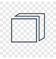 cube concept linear icon isolated on transparent vector image vector image