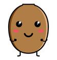 cute kiwi emoticon vector image vector image