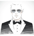 Elegant young businessman portrait vector image