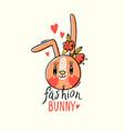fashion kawaii bunny of a vector image