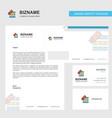 files copy business letterhead envelope and vector image vector image