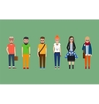 Flat hipster girls and boys set vector image vector image