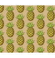 Fresh pineapple pattern vector image vector image