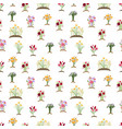 garden flowers pattern colorful tulips daisy vector image vector image