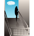 girl on the stairs vector image vector image