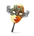 golden full face ornate carnival mask vector image vector image
