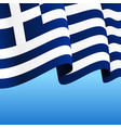 greek flag wavy abstract background vector image