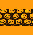 halloween party seamless background pattern vector image vector image