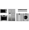 home appliances set vector image vector image