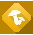 icon of Mushrooms with a long shadow vector image vector image