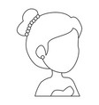 isolated cute upperbody wife vector image vector image
