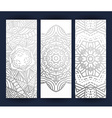 leaflet with silver mandala Realistic brochure vector image vector image