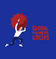 man panic runs away coronavirus crisis draw vector image vector image