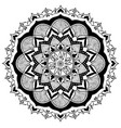 mandala fire and wood vector image vector image