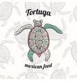 mexican food restaurant menu design vector image vector image