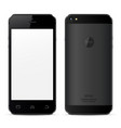 mobile phone concept front view and back side vector image