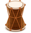 Mridangam indian double wooden drum vector image