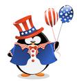 Patriotic Penguin vector image vector image