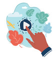pay doodle icon on blue background vector image