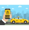 Phone with interface taxi vector image vector image