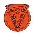pizza slice fast food icon image vector image vector image