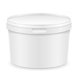 plastic container for ice cream or dessert 01 vector image