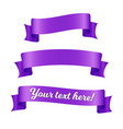 purple ribbon banners set old vintage style vector image vector image