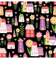 seamless cheerful houses vector image vector image