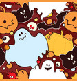 seamless pattern for halloween vector image vector image