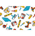 seamless pattern with repair working tools vector image vector image