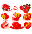 set of valentine elements vector image vector image