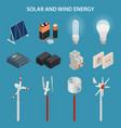 solar and wind energy generation electrical vector image