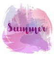summer lettering on background imitation vector image vector image