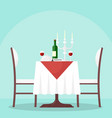 table in restaurant vector image