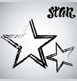 textured star used for stamps banners star icon vector image vector image