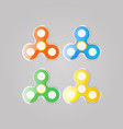 toy spinner set colored to relieve stress vector image