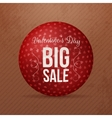 Valentines Day Big Sale red round Ball Banner vector image