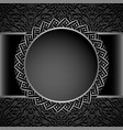 vintage round frame with metal border pattern vector image