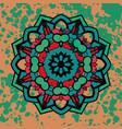 watercolor colorful abstract round mandala vector image