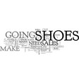 what your shoes say about your sales skills text vector image vector image