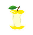 yellow apple stub isolated on vector image
