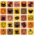 seamless pattern with tea and coffee cups vector image