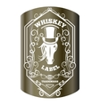 Whiskey label and elements vector image