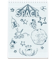 sketch of space themed vector image