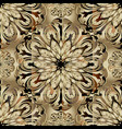 3d baroque seamless pattern round ornamental vector image