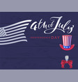 4 july independence day handwritten calligraphy vector image