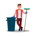 a human garbage collector garbage collection vector image