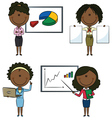 African-Americany business ladies vector image