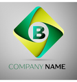 B letter colorful logo in the rhombus template for vector image