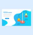 balance money and bulb or idea coin vector image vector image